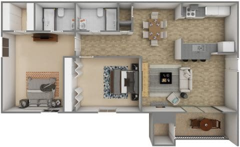 2 Bed / 2 Bath / 1,000 sq ft / Availability: Please Call / Deposit: $300 / Rent: $815
